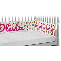 Girly Monsters Crib Bumper Pads (Personalized)
