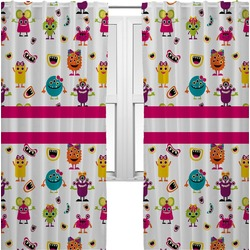 Girly Monsters Curtains (2 Panels Per Set) (Personalized)