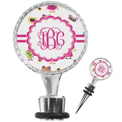 Girly Monsters Wine Bottle Stopper (Personalized)