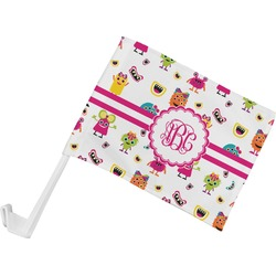 Girly Monsters Car Flag (Personalized)