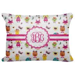 Girly Monsters Decorative Baby Pillowcase - 16