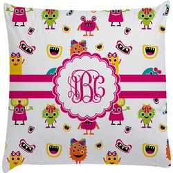 Girly Monsters Decorative Pillow Case (Personalized)