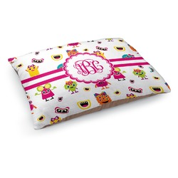 Girly Monsters Dog Pillow Bed (Personalized)