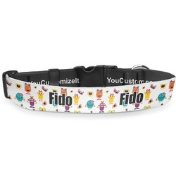 """Girly Monsters Deluxe Dog Collar - Extra Large (16"""" to 27"""") (Personalized)"""