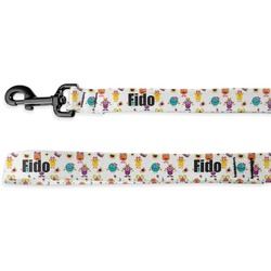 Girly Monsters Deluxe Dog Leash - 4 ft (Personalized)