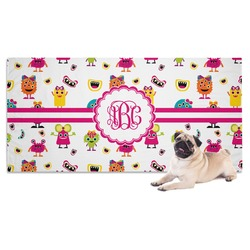 Girly Monsters Pet Towel (Personalized)