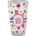 Girly Monsters Drinking / Pint Glass (Personalized)