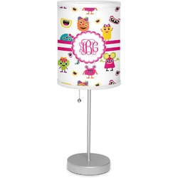 "Girly Monsters 7"" Drum Lamp with Shade (Personalized)"
