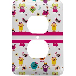 Girly Monsters Electric Outlet Plate (Personalized)