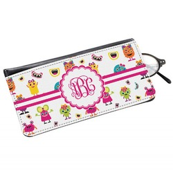 Girly Monsters Genuine Leather Eyeglass Case (Personalized)
