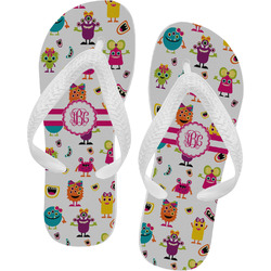 Girly Monsters Flip Flops - XSmall (Personalized)