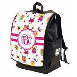 Girly Monsters Backpack w/ Front Flap  (Personalized)