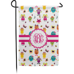 Girly Monsters Garden Flag - Single or Double Sided (Personalized)