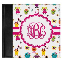 Girly Monsters Genuine Leather Baby Memory Book (Personalized)