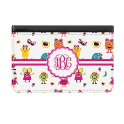 Girly Monsters Genuine Leather ID & Card Wallet - Slim Style (Personalized)