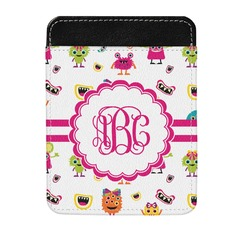 Girly Monsters Genuine Leather Money Clip (Personalized)