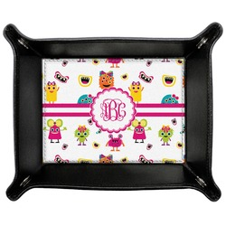 Girly Monsters Genuine Leather Valet Tray (Personalized)