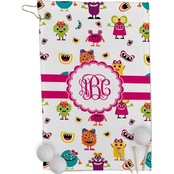 Girly Monsters Golf Towel - Full Print (Personalized)