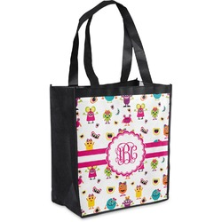 Girly Monsters Grocery Bag (Personalized)