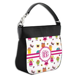 Girly Monsters Hobo Purse w/ Genuine Leather Trim (Personalized)
