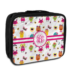Girly Monsters Insulated Lunch Bag (Personalized)