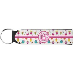 Girly Monsters Keychain Fob (Personalized)