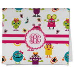 Girly Monsters Kitchen Towel - Full Print (Personalized)