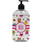 Girly Monsters Plastic Soap / Lotion Dispenser (Personalized)