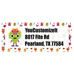 Girly Monsters Return Address Labels (Personalized)