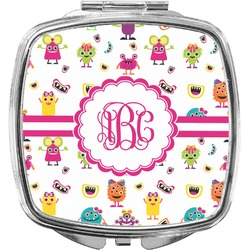 Girly Monsters Compact Makeup Mirror (Personalized)