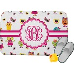 Girly Monsters Memory Foam Bath Mat (Personalized)