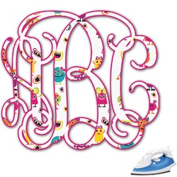 Girly Monsters Monogram Iron On Transfer (Personalized)