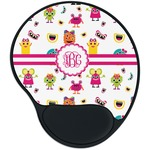 Girly Monsters Mouse Pad with Wrist Support