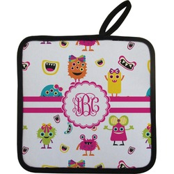 Girly Monsters Pot Holder (Personalized)