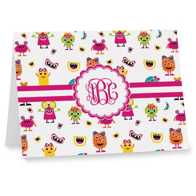 Girly Monsters Note cards (Personalized)