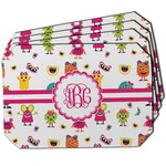 Girly Monsters Dining Table Mat - Octagon w/ Monogram