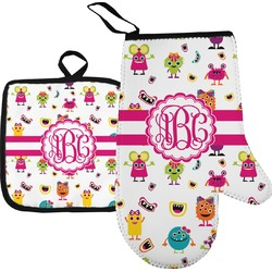 Girly Monsters Oven Mitt & Pot Holder (Personalized)