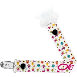 Girly Monsters Pacifier Clips (Personalized)