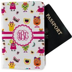Girly Monsters Passport Holder - Fabric (Personalized)