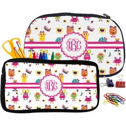 Girly Monsters Neoprene Pencil Case (Personalized)