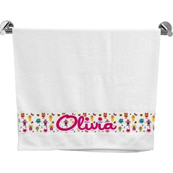 Girly Monsters Bath Towel (Personalized)
