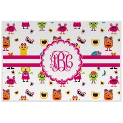 Girly Monsters Placemat (Laminated) (Personalized)