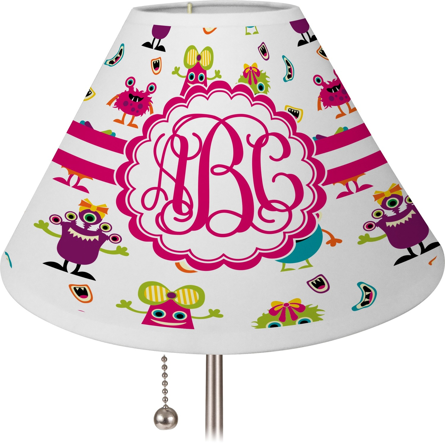 Girly Lamps For Bedroom: Girly Monsters Empire Lamp Shade (Personalized)