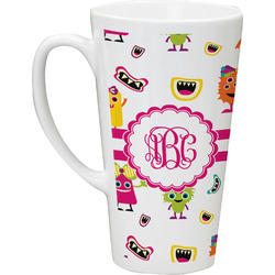 Girly Monsters Latte Mug (Personalized)