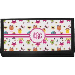 Girly Monsters Canvas Checkbook Cover (Personalized)