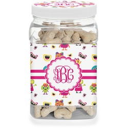 Girly Monsters Pet Treat Jar (Personalized)
