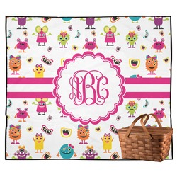 Girly Monsters Outdoor Picnic Blanket (Personalized)