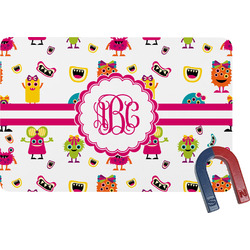 Girly Monsters Rectangular Fridge Magnet (Personalized)
