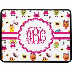 """Girly Monsters Rectangular Trailer Hitch Cover - 1.25"""" (Personalized)"""