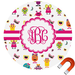Girly Monsters Car Magnet (Personalized)